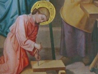 obéissance de jésus, détail retable Sainte Famille
