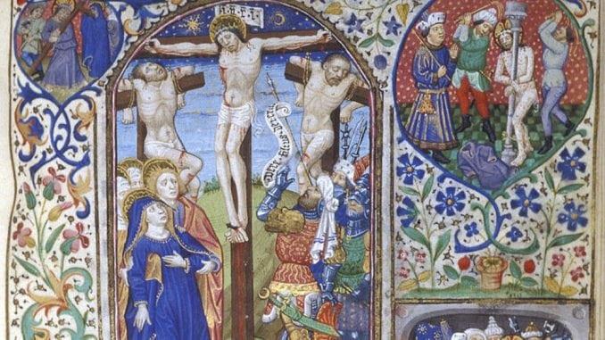 abaissement-jésus-crucifixion-enluminure