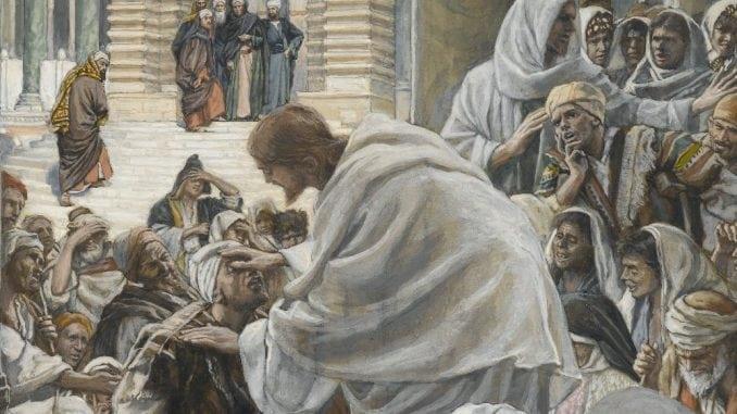 Culte du Coeur de Jésus - Le Christ guérit les boiteux, James Tissot
