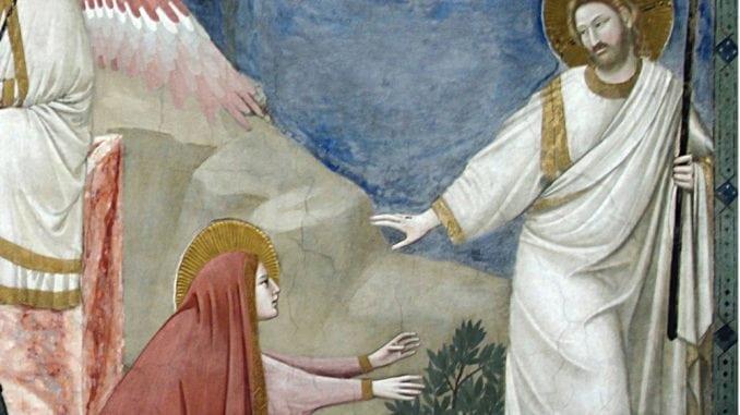 Rendre hommage à Jésus, Giotto de Bodoni, Noli me tangere